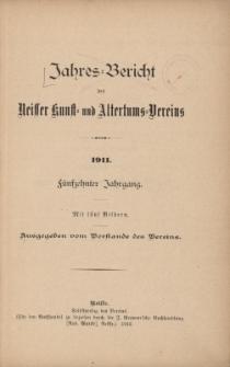 Jahresbericht des Neisser Kunst- und AltertumsVereins 1911