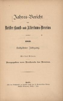 Jahresbericht des Neisser Kunst- und AltertumsVereins 1912