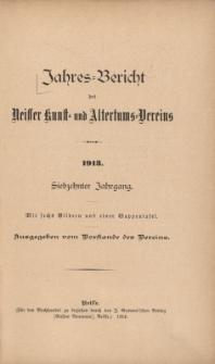 Jahresbericht des Neisser Kunst- und AltertumsVereins 1913