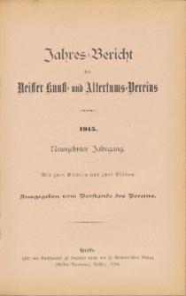 Jahresbericht des Neisser Kunst- und AltertumsVereins 1915