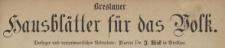 Breslauer Hausblätter für das Volk. Jg.2 (1864), Nr. 1