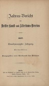 Jahresbericht des Neisser Kunst- und AltertumsVereins 1917