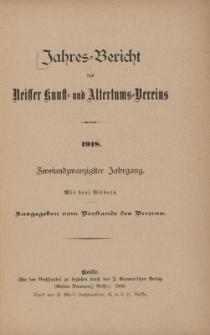 Jahresbericht des Neisser Kunst- und AltertumsVereins 1918