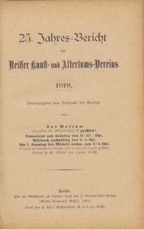 Jahresbericht des Neisser Kunst- und AltertumsVereins 1919: Jg.23