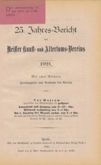 Jahresbericht des Neisser Kunst- und AltertumsVereins 1921: Jg.25