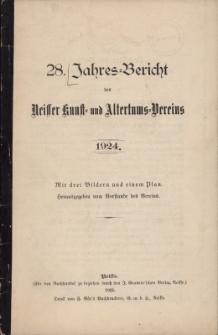 Jahresbericht des Neisser Kunst- und AltertumsVereins 1924: Jg.28