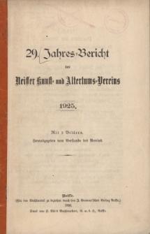 Jahresbericht des Neisser Kunst- und AltertumsVereins 1925: Jg.29