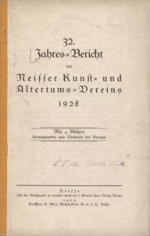 Jahresbericht des Neisser Kunst- und AltertumsVereins 1928: Jg.32