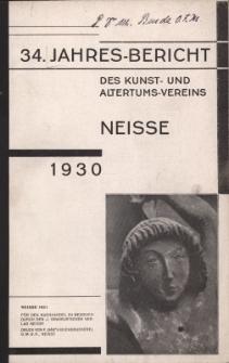 Jahresbericht des Neisser Kunst- und AltertumsVereins 1930: Jg.34