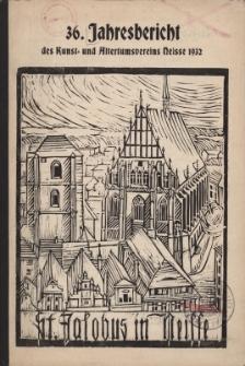 Jahresbericht des Neisser Kunst- und AltertumsVereins 1932: Jg.36