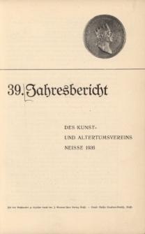 Jahresbericht des Neisser Kunst- und AltertumsVereins 1935: Jg.39