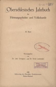 Oberschlesisches Jahrbuch für Heimatgeschichte und Volkskunde, Bd.3
