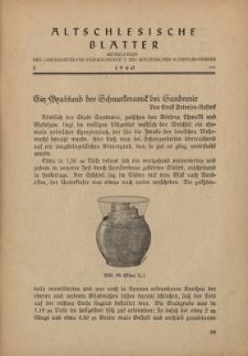 Altschlesische Blätter 1940 : Jg.15, Nr 3