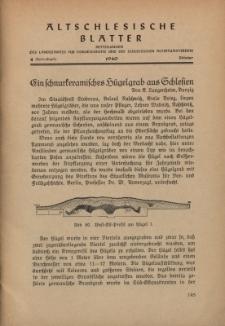 Altschlesische Blätter 1940 : Jg.15, Nr 4