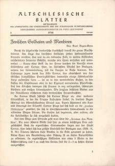 Altschlesische Blätter 1941 : Jg.16, Nr 1