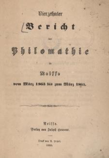 Ber.14 : vom März 1863 bis zum März 1865
