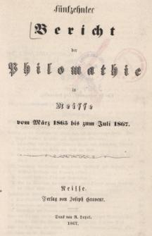 Ber.15 : vom März 1865 bis zum Juli 1867
