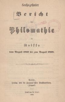 Ber.16 : vom August 1867 bis zum August 1869