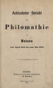 Ber.18 : vom April 1872 bis zum Mai 1874