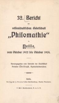 Ber.32 : vom Oktober 1902 bis Oktober 1904
