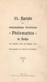 Ber.35 : vom Oktober 1908 bis Oktober 1910