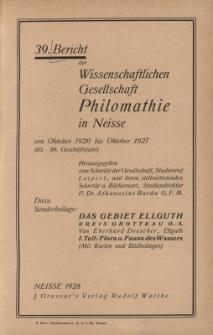 Ber.39 : vom Oktober 1920 bis Oktober 1927