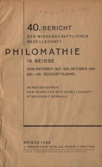 Ber.40 : von Oktober 1927 bis Oktober 1931