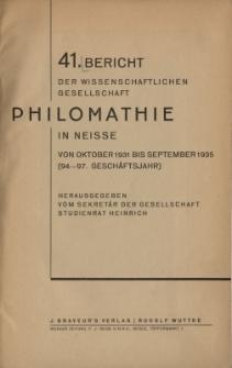 Ber.41 : von Oktober 1931 bis September 1935