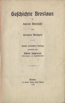 Geschichte Breslaus in kurzer Übersicht