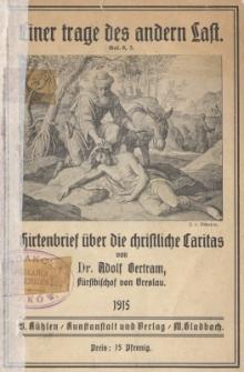 Hirtenbrief über die christliche Caritas