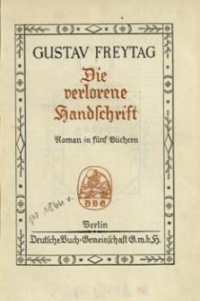 Die verlorene Handschrift : Roman in fünf Büchern