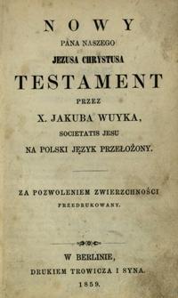 Nowy Pana Naszego Jezusa Chrystusa Testament