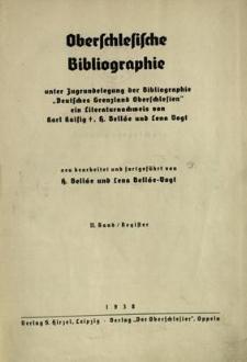 Oberschlesische Bibliographie. Bd. 2 : Register