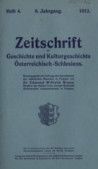 Zeitschrift für Geschichte und Kulturgeschichte Österreichisch-Schlesiens, Jg.8, Heft 4