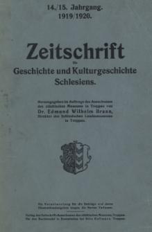 Zeitschrift für Geschichte und Kulturgeschichte Österreichisch-Schlesiens, Jg.14/15