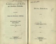 Darstellungen und Quellen zur schlesischen Geschichte. Bd. 23. Kleine Schriften. Tl. 1