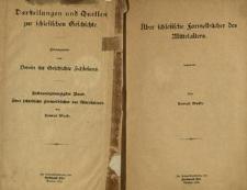 Darstellungen und Quellen zur schlesischen Geschichte. Bd. 26. Über schlesische Formelbücher des Mittelalters