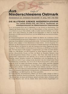"""Aus Niederschlesiens Ostmark. Sonderabdruck aus """"Schlesische Monatshefte"""", Jg. 9, H. 5"""