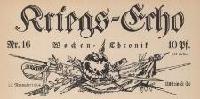 Kriegs-Echo: Wochen-Chronik 16
