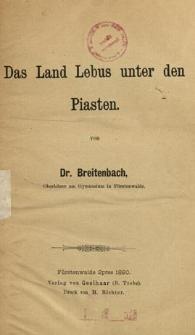 Das Land Lebus unter den Piasten