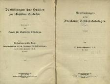 Darstellungen und Quellen zur schlesischen Geschichte. Bd. 25. Untersuchungen zu den Breslauer Bischofskatalogen