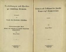 Darstellungen und Quellen zur schlesischen Geschichte. Bd. 27. Heimat und Volkstum der Familie Koppernigk (Coppernicus)