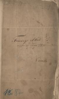 Akta parafii w Biskupicach z lat 1850-1865