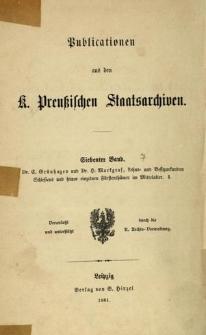 Lehns- und Besitzurkunden Schlesiens und seiner einzelnen Fürstenthumer im Mittelalter. Th. 1