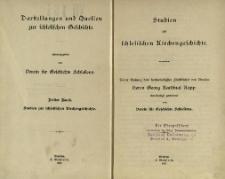 Darstellungen und Quellen zur schlesischen Geschichte. Bd. 3. Studien zur schlesischen Kirchengeschichte