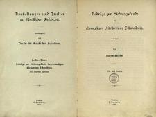 Darstellungen und Quellen zur schlesischen Geschichte. Bd. 6. Beiträge zur Siedlungskunste im ehemaligen Fürstentum Schweidnitz