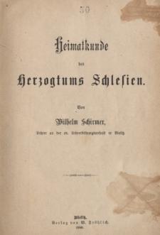 Heimatkunde des Herzogtums Schlesien
