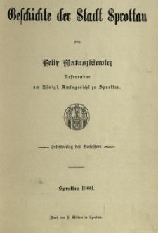 Geschichte der Stadt Sprottau