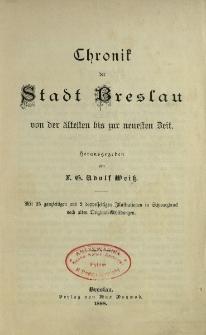 Chronik der Stadt Breslau von der ältesten bis zur neuesten Zeit