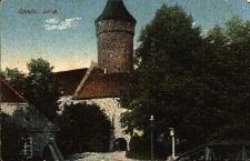 Opole : Zamek Piastowski z widokiem na bramę wjazdową, po lewej stronie budynek